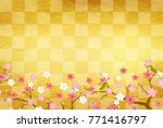 plum blossoms new year card... | Shutterstock .eps vector #771416797