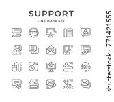 set line icons of support | Shutterstock .eps vector #771421555