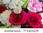 Stock photo bouquet roses red 771423229