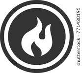 fire icon   dark circle sign...