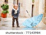Adorable Little Girl Outdoors...