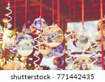 christmas decorations on the... | Shutterstock . vector #771442435