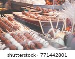 christmas market fancy... | Shutterstock . vector #771442801
