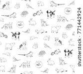 pets animals cute cartoon... | Shutterstock . vector #771442924