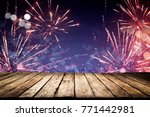 desk space and carnival time  | Shutterstock . vector #771442981