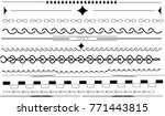 different borders  dividers ... | Shutterstock .eps vector #771443815