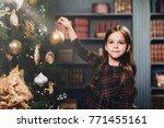 small little kid decorates...   Shutterstock . vector #771455161