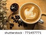 Coffee Latte Milk Cream Flower...