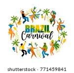 brazil carnival. vector...   Shutterstock .eps vector #771459841
