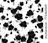 rose illustration pattern. | Shutterstock .eps vector #771464569