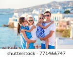 family having fun outdoors on... | Shutterstock . vector #771466747