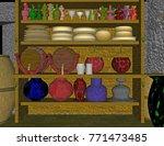 clay jugs 3d rendering | Shutterstock . vector #771473485
