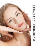 beautiful topless caucasian... | Shutterstock . vector #771474859