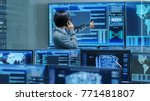 in the system control room it... | Shutterstock . vector #771481807