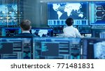 in the system control room... | Shutterstock . vector #771481831
