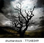 Silhouette Of  A Skeleton Dead...