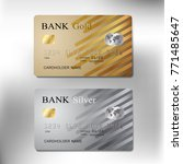 gold and silver color credit...