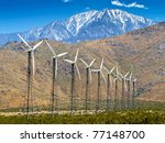 Wind Turbines With A Scenic...