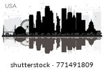 usa city skyline black and... | Shutterstock .eps vector #771491809