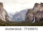 yosemite valley - stock photo