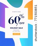 60  off sale. discount special... | Shutterstock .eps vector #771503851