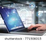 view of an international... | Shutterstock . vector #771508315
