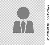 businessman in suit silhouette. ... | Shutterstock .eps vector #771509629