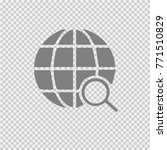 globe with magnifying glass... | Shutterstock .eps vector #771510829
