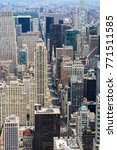 aerial view of nyc fifth avenue ... | Shutterstock . vector #771511585