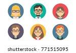 avatars of scientists  little... | Shutterstock .eps vector #771515095