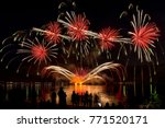 colorful fireworks of various... | Shutterstock . vector #771520171