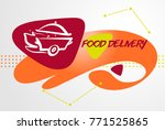 concept  for fast delivery.... | Shutterstock .eps vector #771525865