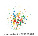 colorful shatter vector... | Shutterstock .eps vector #771525901