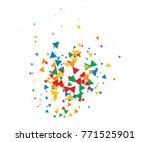 colorful shatter vector... | Shutterstock .eps vector #771525901