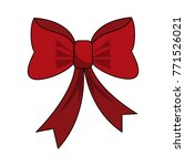 ribbon bow isolated | Shutterstock .eps vector #771526021