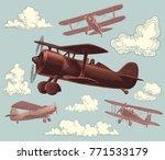aircraft. design set. hand... | Shutterstock .eps vector #771533179