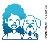 woman with dog cartoon | Shutterstock .eps vector #771535651