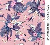 summer vector seamless... | Shutterstock .eps vector #771537127