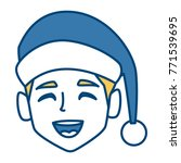 man with christmas hat | Shutterstock .eps vector #771539695