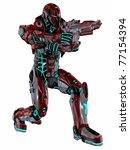 futuristic soldier   Shutterstock . vector #77154394