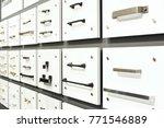 samples of metal and plastic... | Shutterstock . vector #771546889