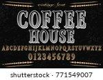 vintage font  handcrafted... | Shutterstock .eps vector #771549007
