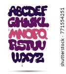purple graffiti font  vector | Shutterstock .eps vector #771554251