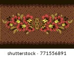 vector floral pattern khokhloma.... | Shutterstock .eps vector #771556891