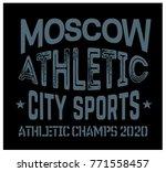 moscow sport t shirt design ... | Shutterstock . vector #771558457