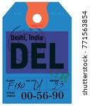 delhi airline tag design.... | Shutterstock . vector #771563854