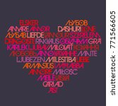 love typography. avant garde... | Shutterstock .eps vector #771566605