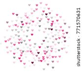 beautiful pink confetti hearts... | Shutterstock .eps vector #771570631