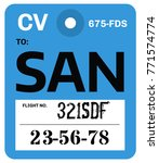 vintage luggage tag. real... | Shutterstock . vector #771574774