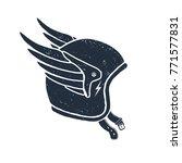 hand drawn racing helmet... | Shutterstock .eps vector #771577831
